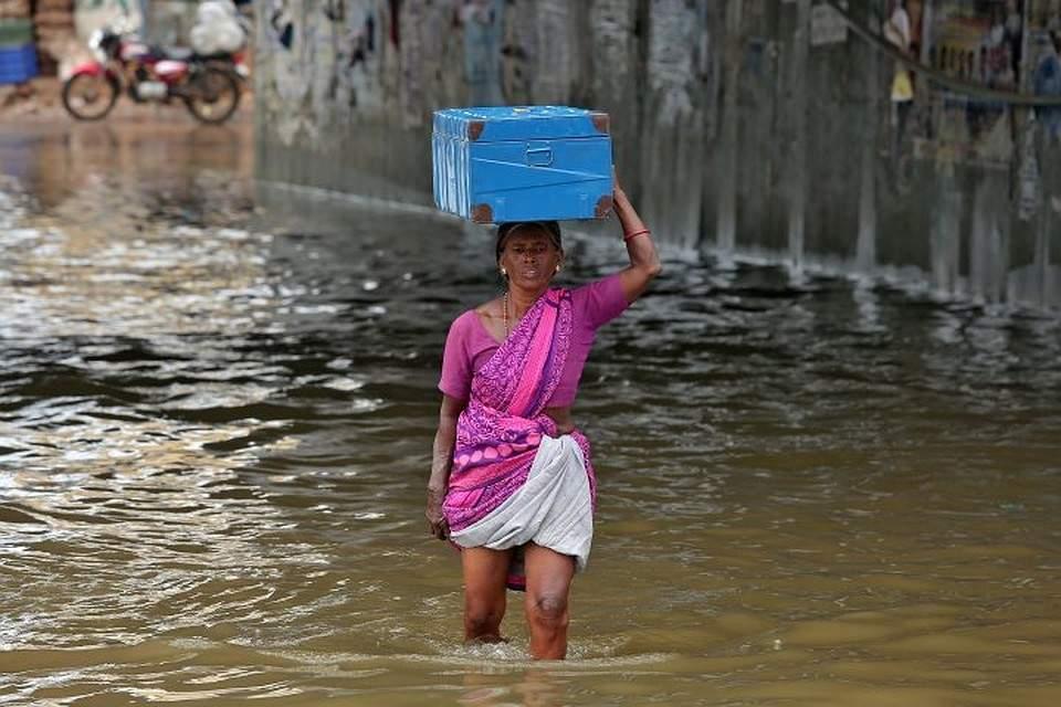 В результате сильных ливней в Индии погибло более 40 человек