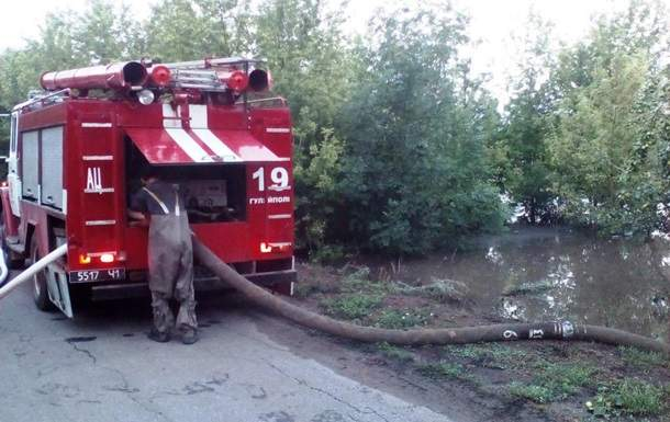 В Запорожской области из-за сильного ливня подтоплены около 100 домовладений