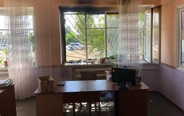 В Запорожской области неизвестные  забросали коктейлями Молотова сельский совет