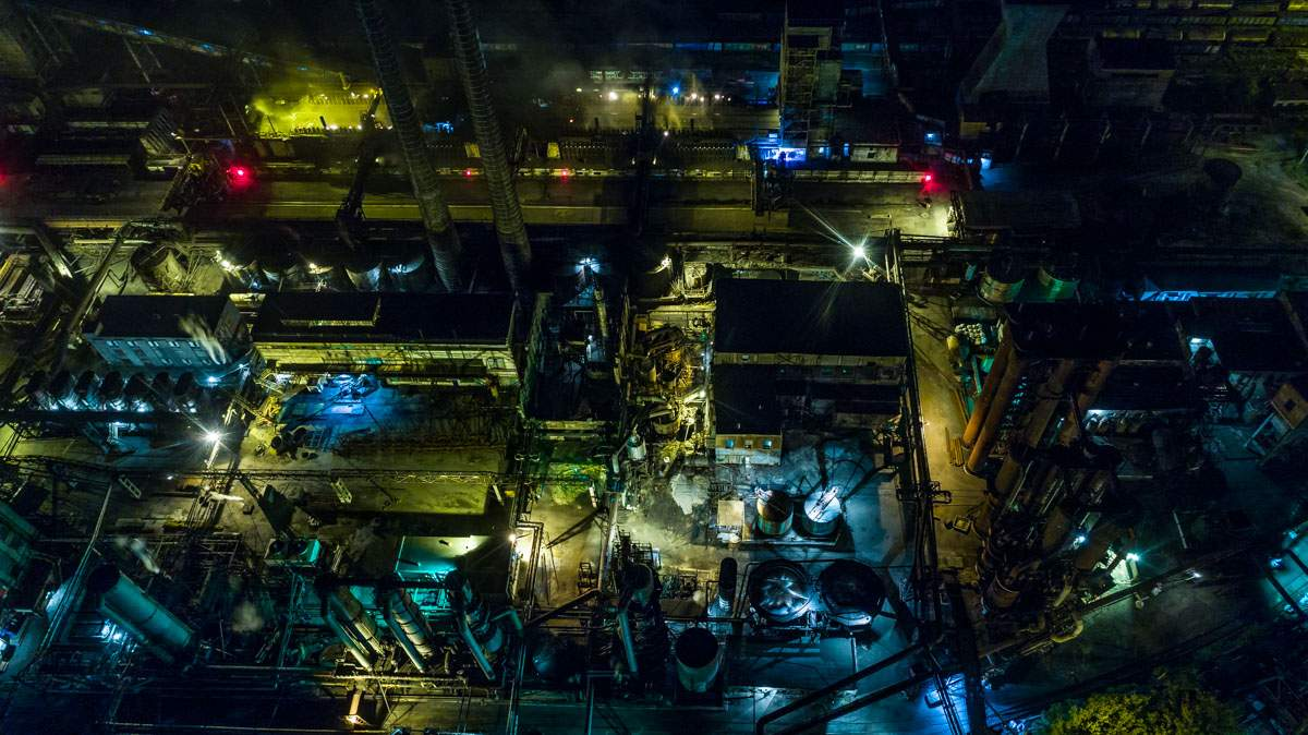 В Днепре произошел пожар на территории Коксохимического завода