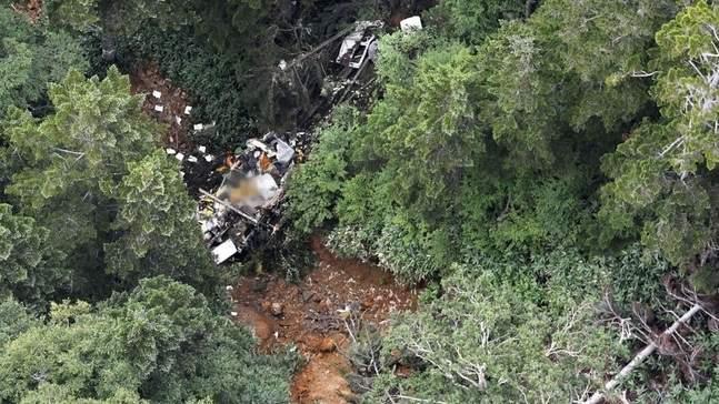 В Японии разбился вертолет. 9 погибших