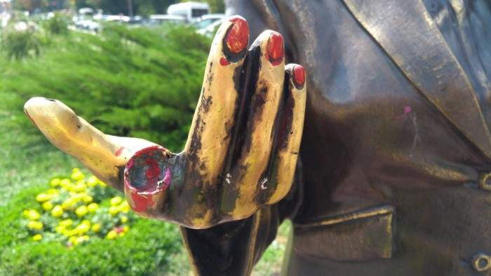 В Запорожье вандалы повредили памятник