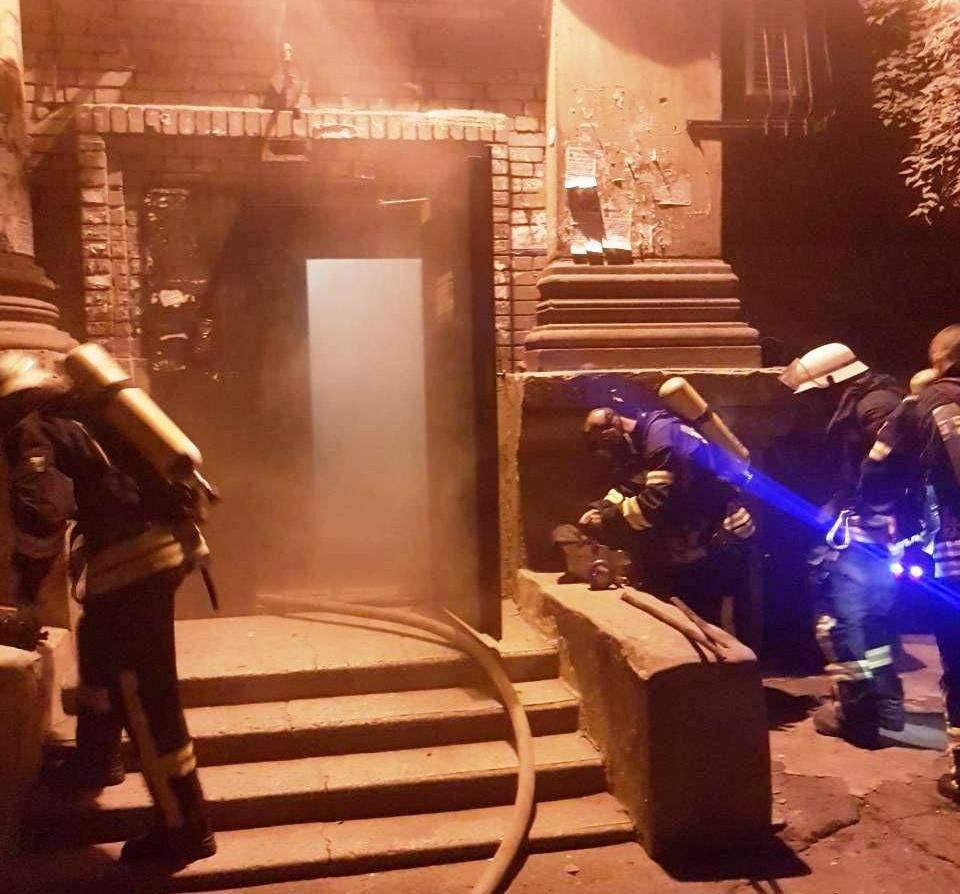 В результате серьёзного пожара в Запорожской области пострадали люди