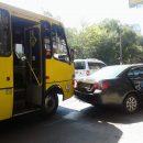 В Одессе маршрутка с людьми попала в ДТП