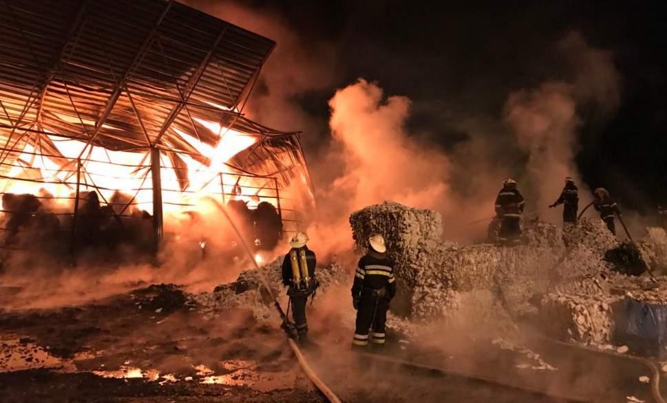 Серьёзный пожар на Харьковщине: Горело предприятие по переработке пластика