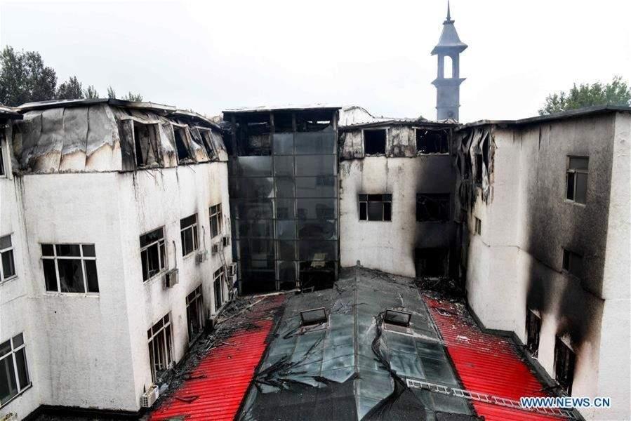 В результате масштабного пожара в Китае погибли десятки людей