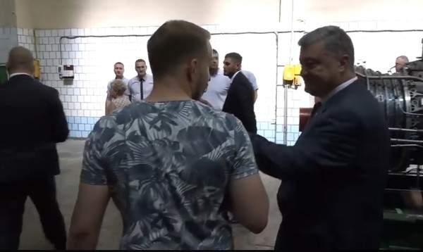 Порошенко грубо поговорил с журналистом в Николаеве