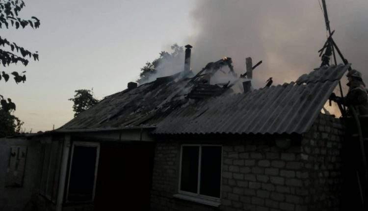 В Запорожской области произошел масштабный пожар