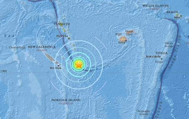 В южной части Тихого океана зафиксировали мощное землетрясение