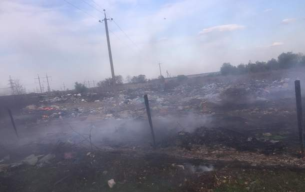 В Житомирской области произошёл масштабный пожар