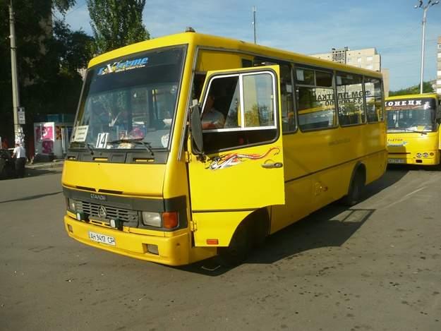 В Запорожье вспыхнула маршрутка с пассажирами