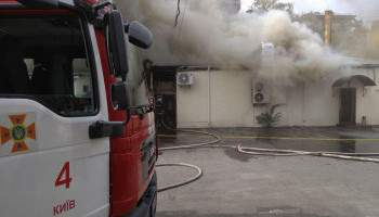 В столице произошел пожар в ресторане