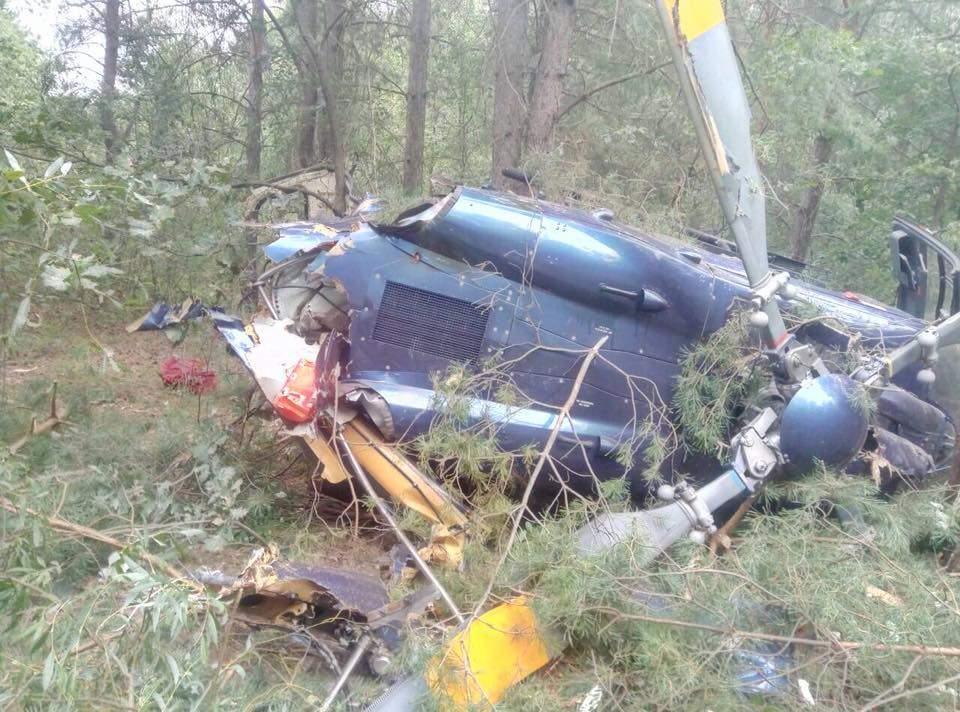 В Киеве рухнул вертолёт. Есть пострадавшие