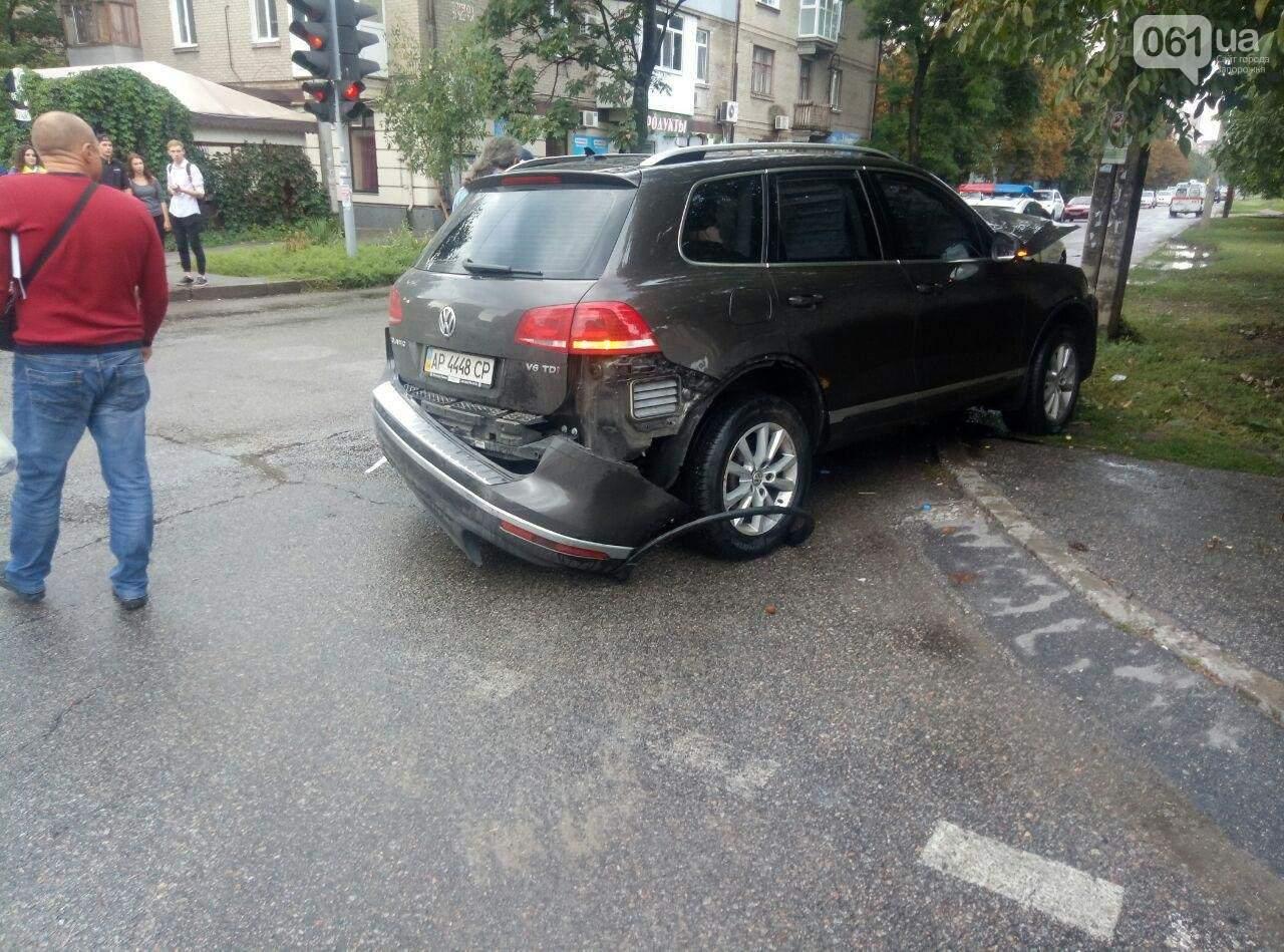 В Запорожье священник за рулём иномарки устроил аварию