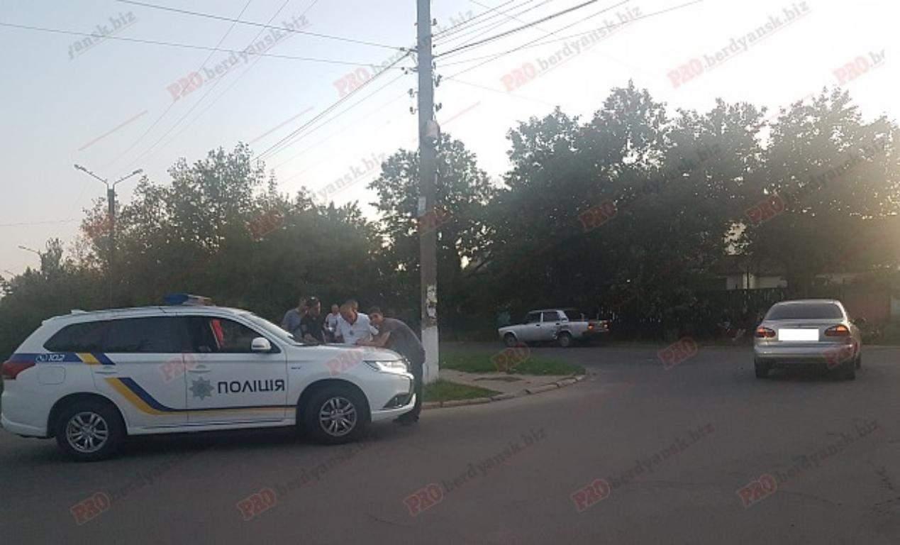 В Запорожской области полицейские стали участниками ДТП