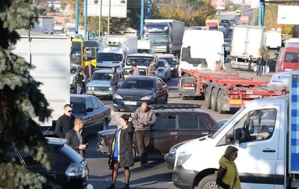 В Одессе автомобилисты устроили акцию протеста