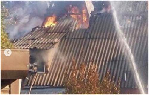 В одном из домов в столице произошел пожар