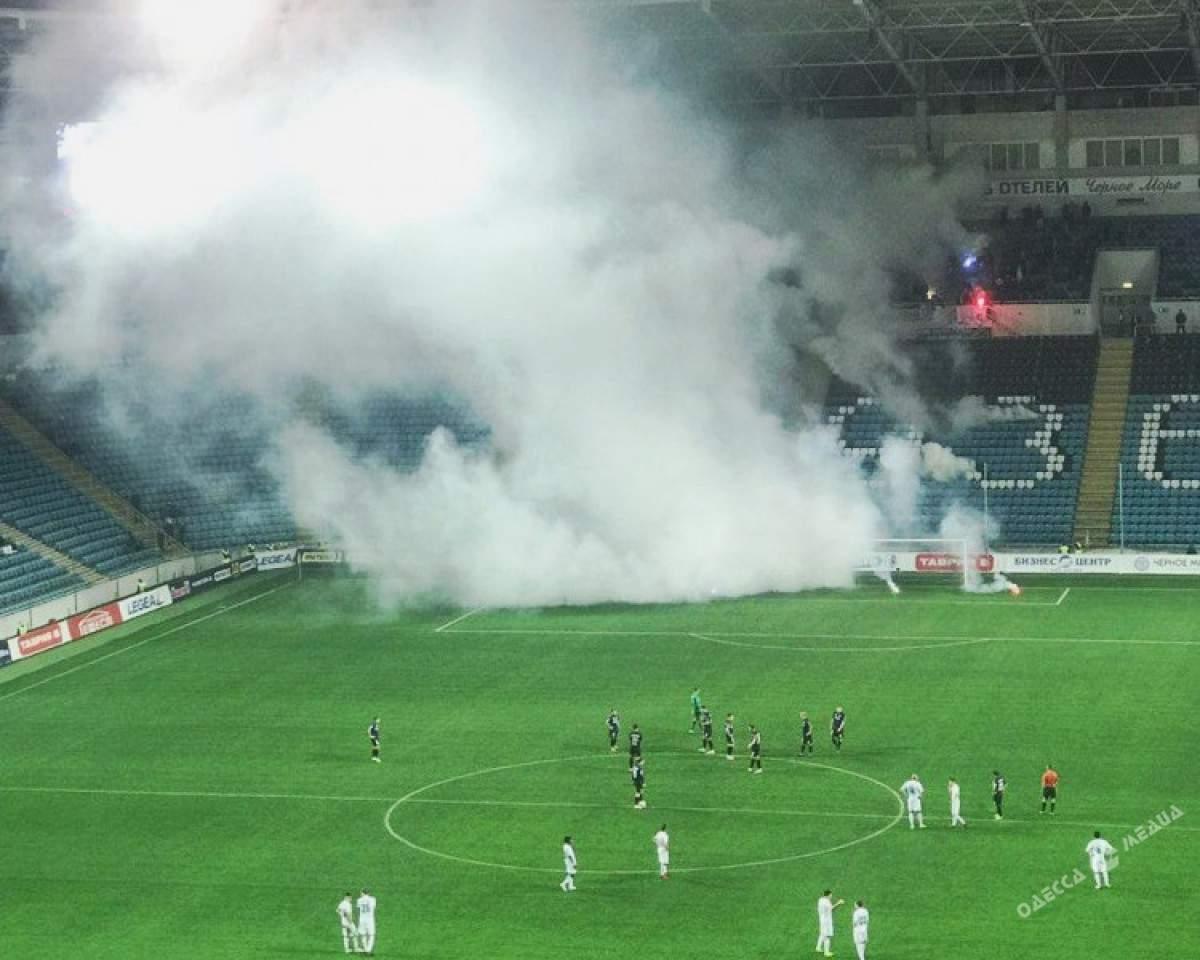 В Одессе во время футбольного матча произошел мощный взрыв