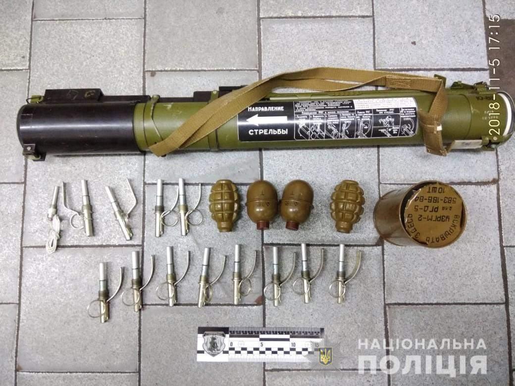 В Харькове задержали военного с противотанковым гранатометом и гранатами (видео)