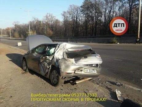 В Киеве автомобиль нардепа попал в серьёзное ДТП. Есть пострадавшие