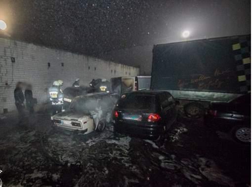 В Днепре произошло возгорание 5 авто