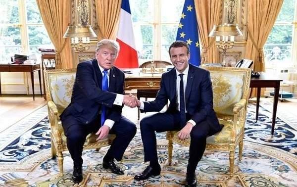 Трамп и Макрон в Париже обсудят военные вопросы