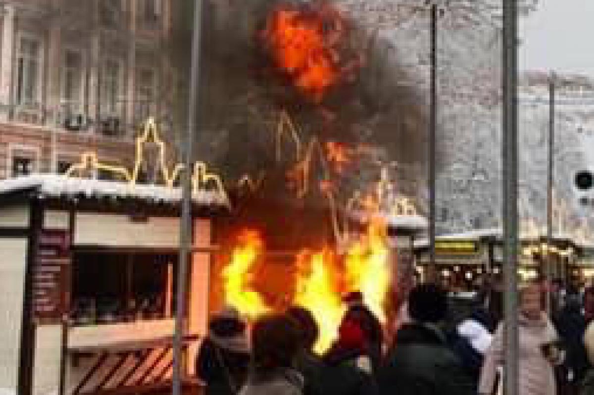 В столице вспыхнул огонь около Софийской площади