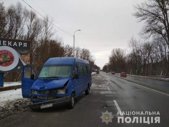 В Чернигове маршрутка сбила пенсионера и следом другая совершила наезд на потерпевшего (фото)
