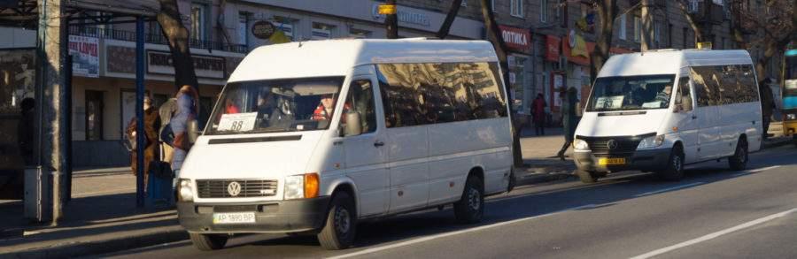 В Запорожье водитель за рулём маршрутки совершил наезд на человека
