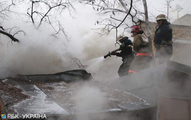 В столице произошел серьёзный пожар