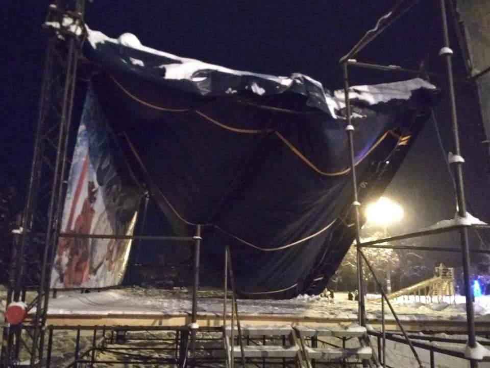 На Харьковщине рухнула главная сцена города