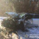 Смертельное ДТП в Киеве: две легковушки столкнулись лоб в лоб (видео)