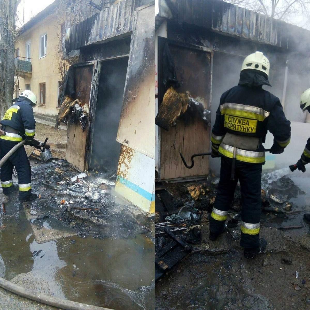 В Днепре в хлебном киоске вспыхнул пожар (фото)