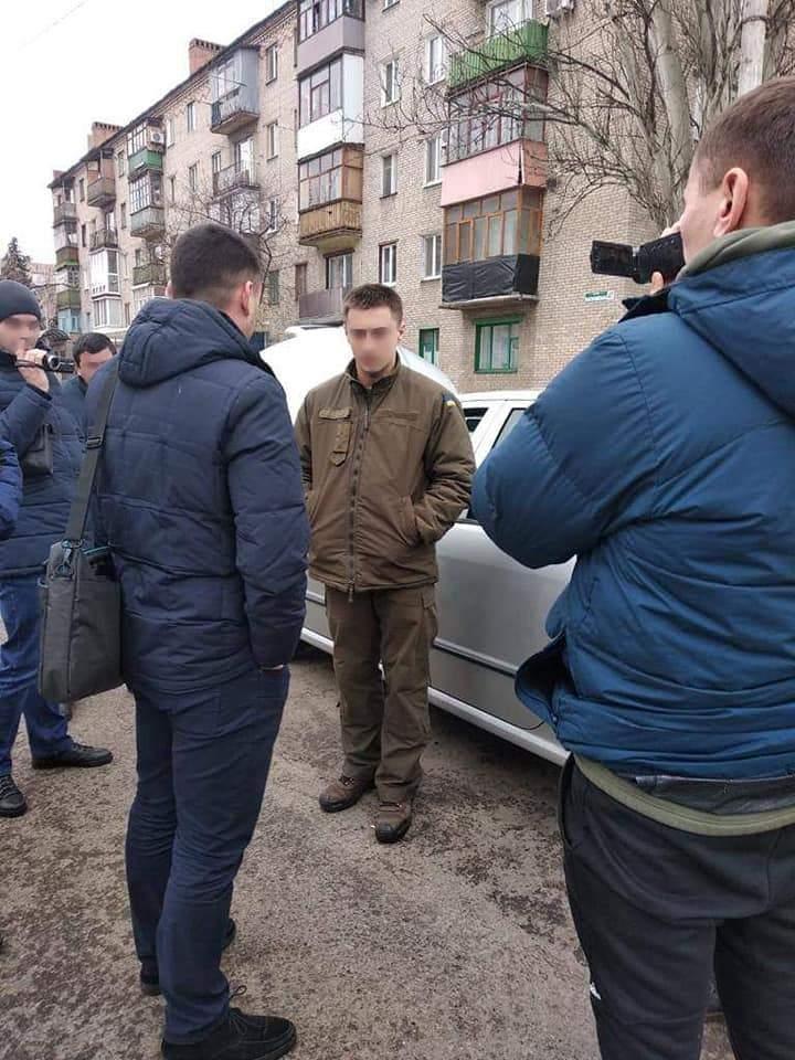 На получении неправомерной выгоды был задержан офицер Нацгвардии Украины (фото)