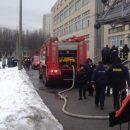 В столице загорелся один из корпусов НАУ (фото)