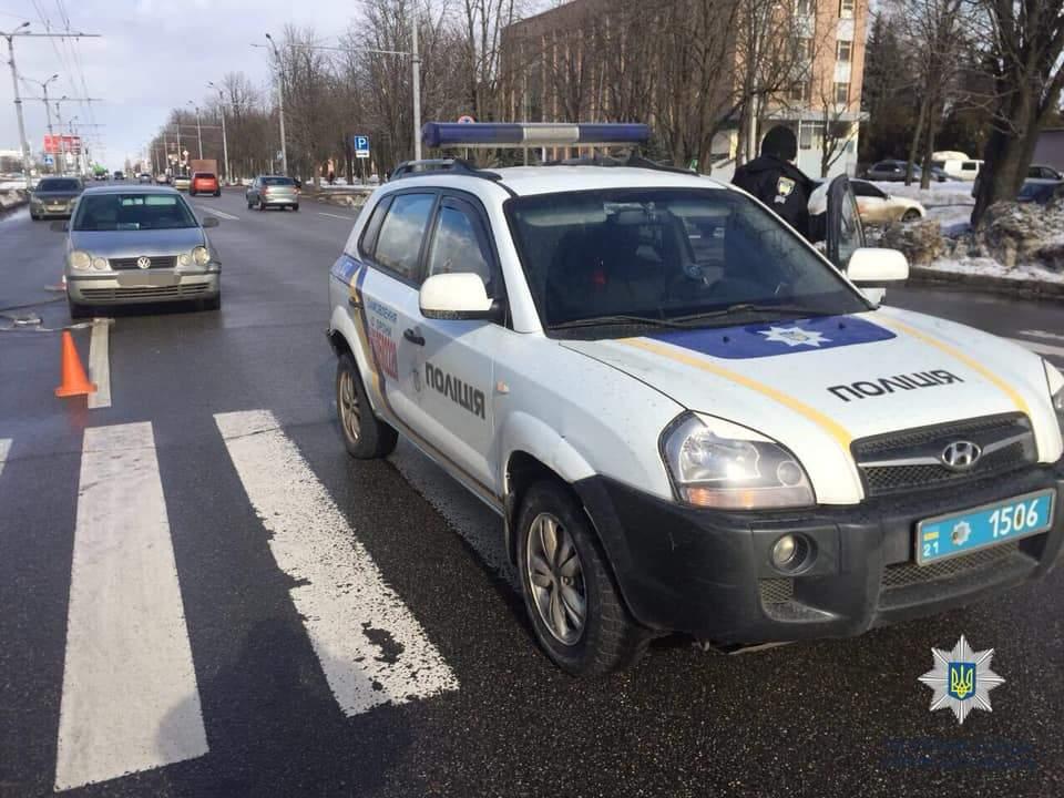 В Харькове правоохранители попали в ДТП