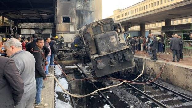 В Египте на ж/д вокзале произошел масштабный пожар. 12 погибших