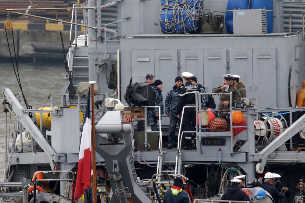 Одесский порт покинул минный тральщик Военно-морских сил Франции
