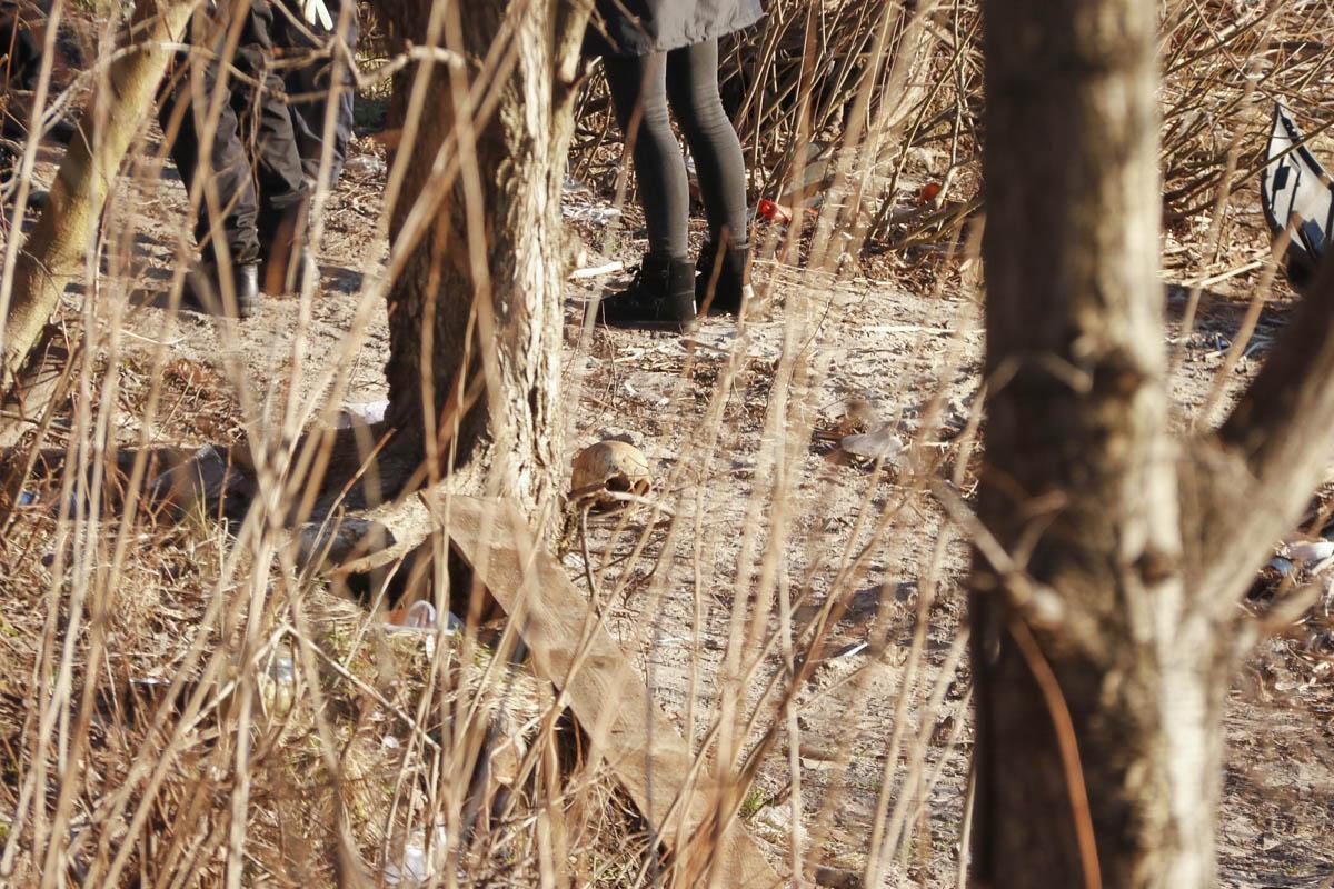 В столице обнаружили останки человека