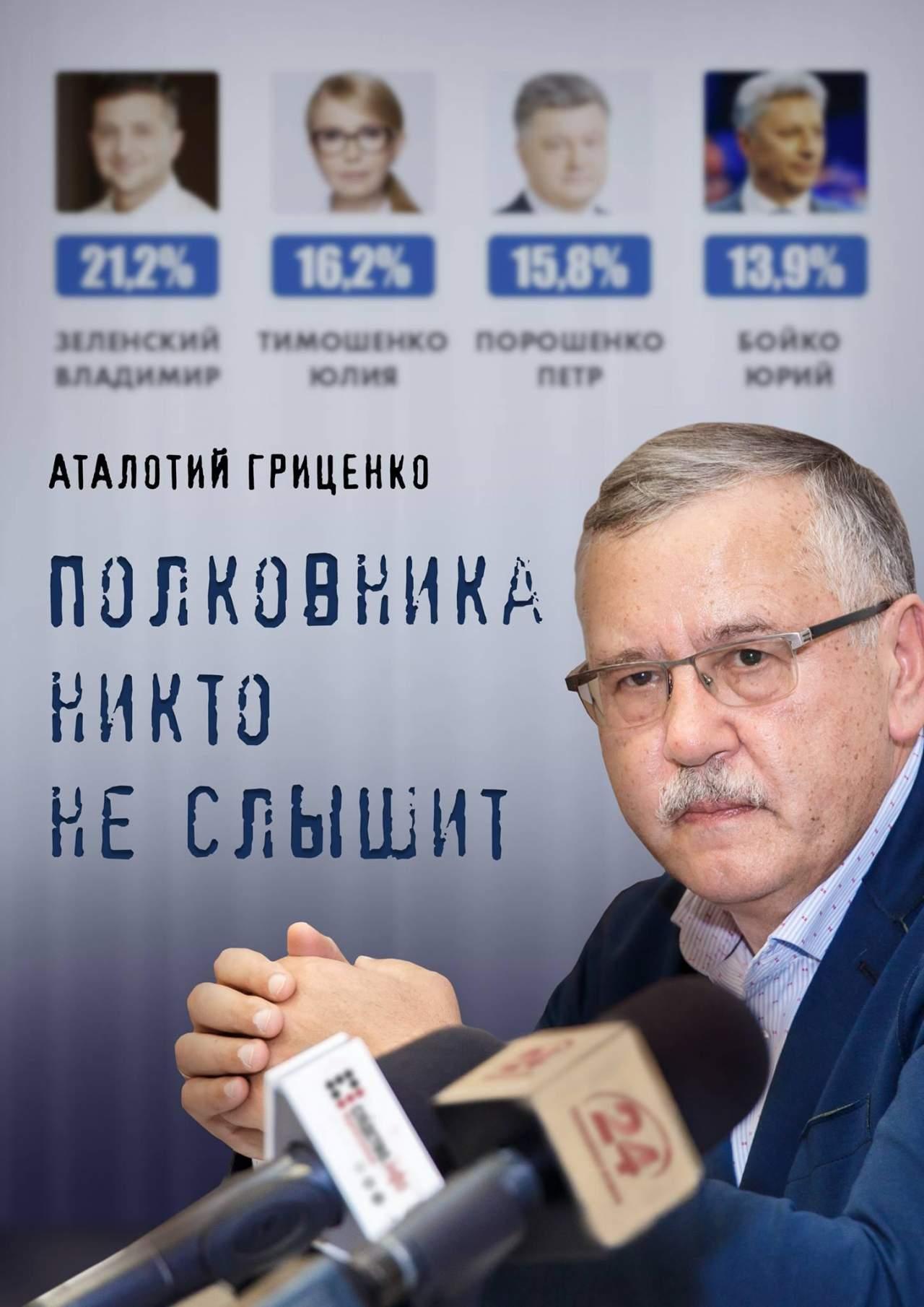 Зеленский-Гриценко: кандидат в президенты Украины вызвал конкурента на дебаты