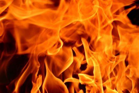В городе Львов горел торговый центр