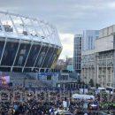 Представители Нацкорпуса зафиксировали как массовке Порошенко выдавали деньги возле НСК