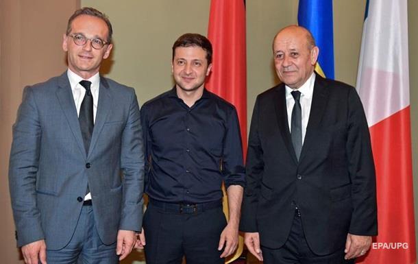 Владимир Зеленский  провел встречу с главами МИД Германии и Франции