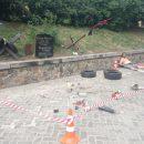 В центре Киева разгромил мемориал в честь героя Небесной Сотни Сергея Нигоян