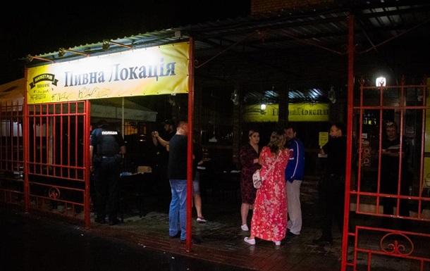 Ночной обстрел посетителей киевского кафе:трое человек ранены