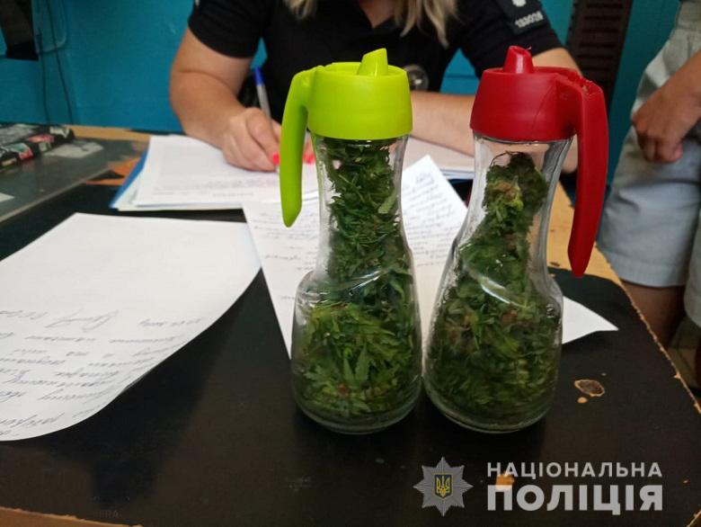 В Киеве полицейские задержали двоих молодых людей с коноплей