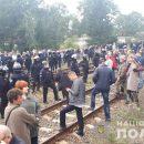 Блокада ж/д путей на Львовщине: 28 задержанных, 8 пострадавших полицейских