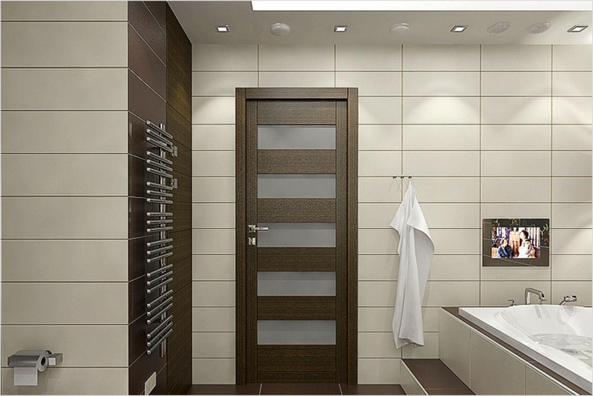 Какие двери подойдут для интерьера ванной комнаты