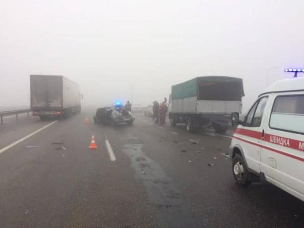 В Одесской области из-за гололеда и тумана произошло несколько масштабных ДТП