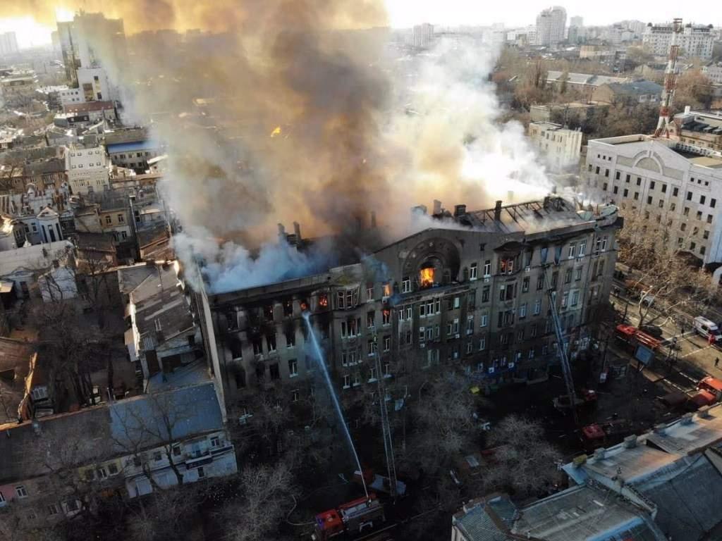В Одессе пожар локализовали на площади 4000 квадратных метров
